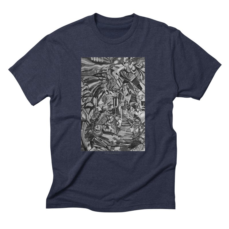 Claustrophobia (B&W) Men's Triblend T-Shirt by Every Drop's An Idea's Artist Shop