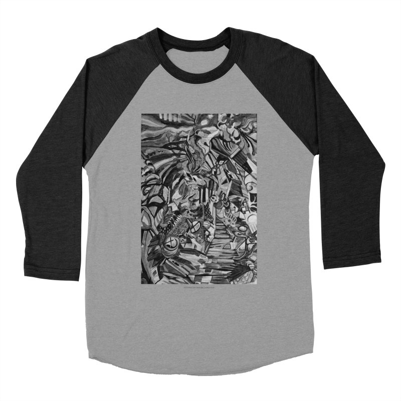 Claustrophobia (B&W) Men's Baseball Triblend T-Shirt by Every Drop's An Idea's Artist Shop