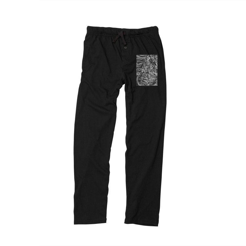 Claustrophobia (B&W) Men's Lounge Pants by Every Drop's An Idea's Artist Shop