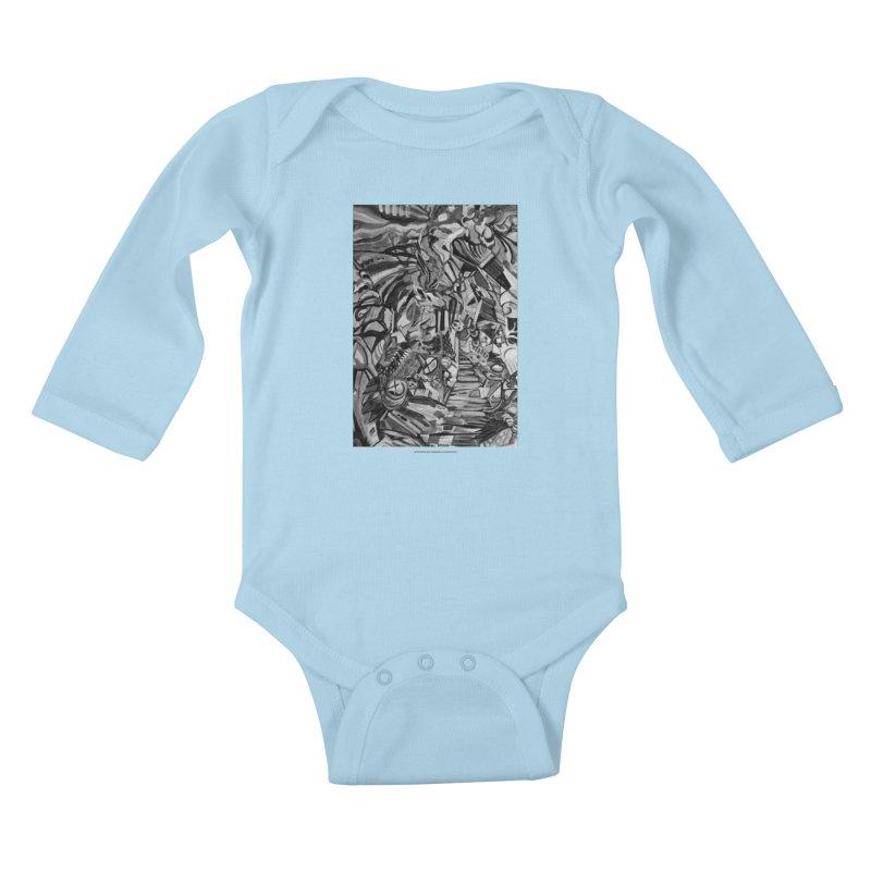 Claustrophobia (B&W) Kids Baby Longsleeve Bodysuit by Every Drop's An Idea's Artist Shop