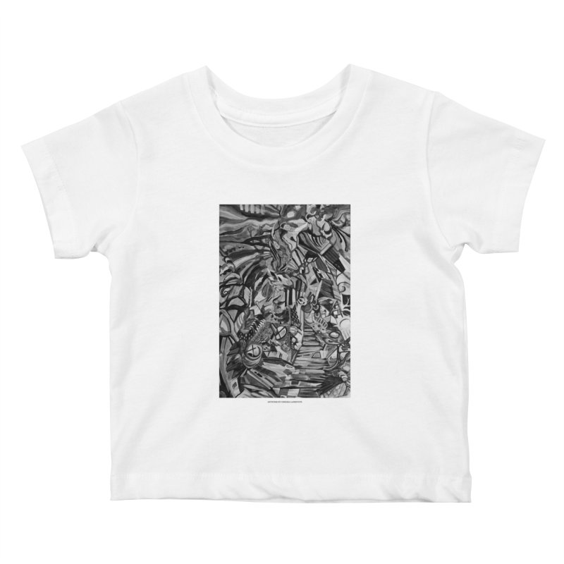 Claustrophobia (B&W) Kids Baby T-Shirt by Every Drop's An Idea's Artist Shop