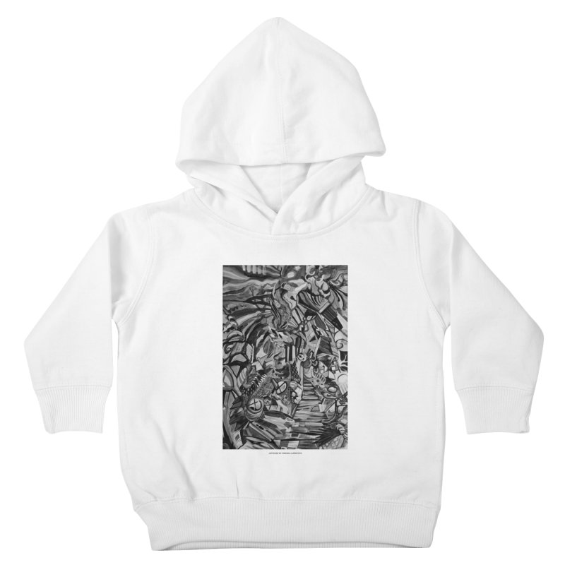 Claustrophobia (B&W) Kids Toddler Pullover Hoody by Every Drop's An Idea's Artist Shop