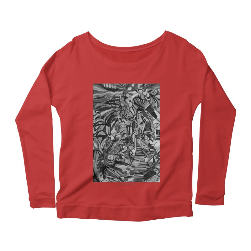 Claustrophobia (B&W) Women's Longsleeve Scoopneck  by Every Drop's An Idea's Artist Shop