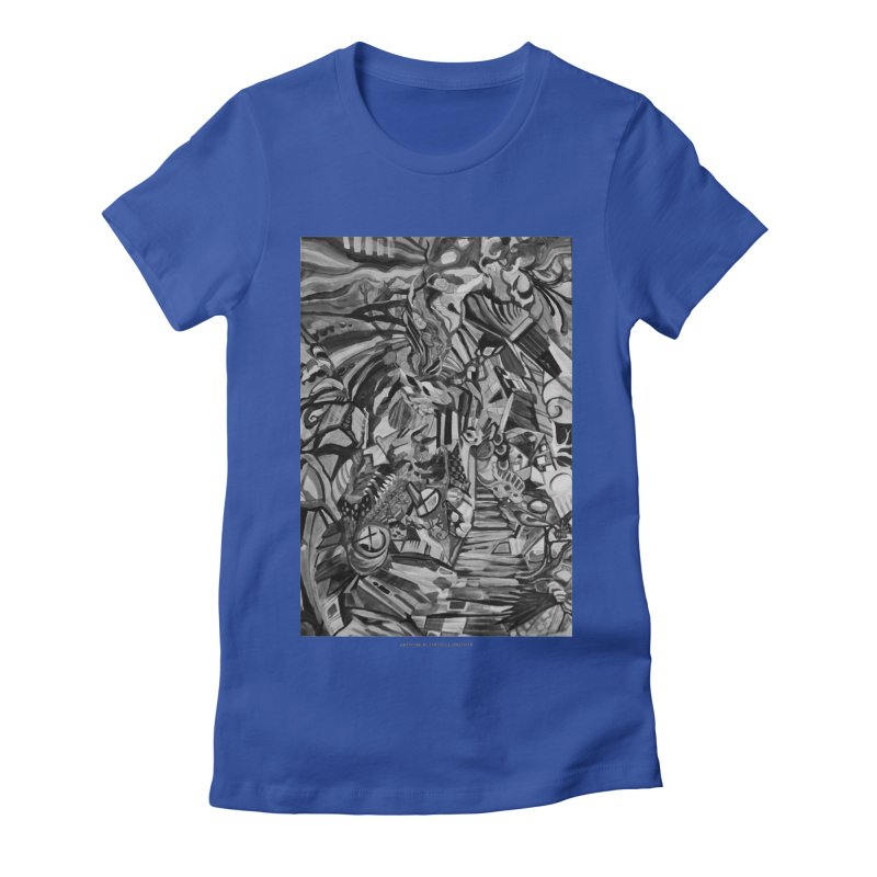Claustrophobia (B&W) Women's Fitted T-Shirt by Every Drop's An Idea's Artist Shop