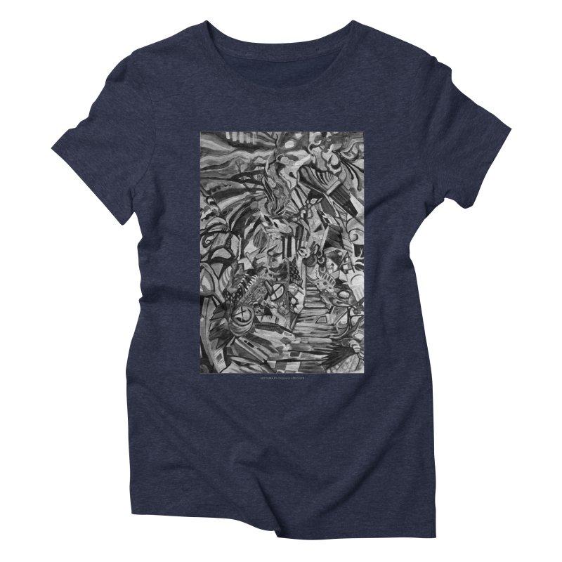 Claustrophobia (B&W) Women's Triblend T-shirt by Every Drop's An Idea's Artist Shop