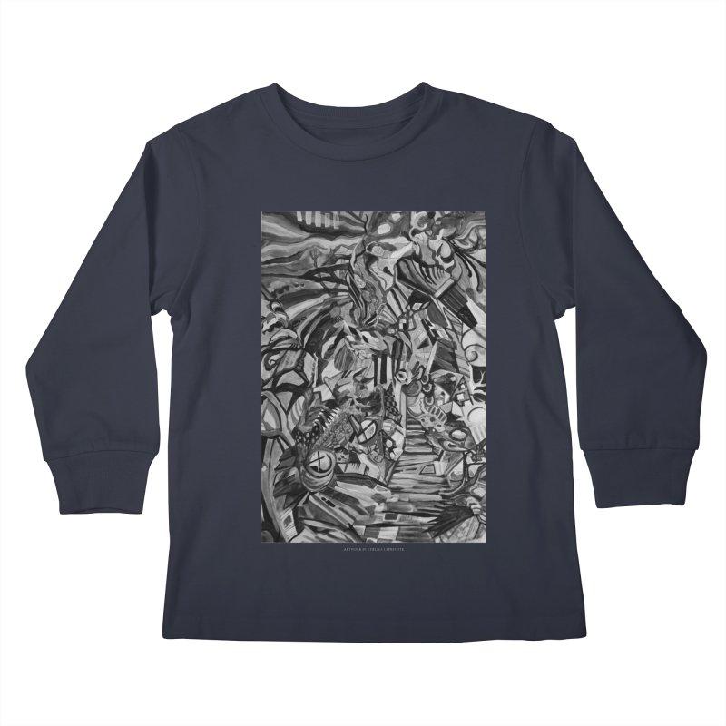 Claustrophobia (B&W) Kids Longsleeve T-Shirt by Every Drop's An Idea's Artist Shop