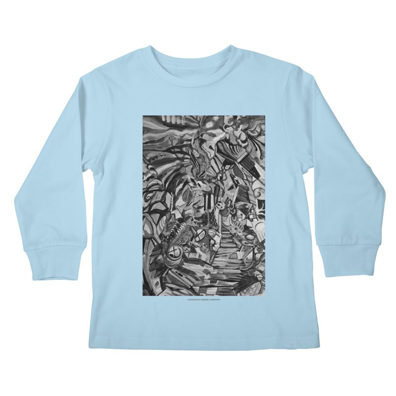 Claustrophobia (B&W) Kids Longsleeve T-Shirt by Every Drop's An Idea's Artist Shop