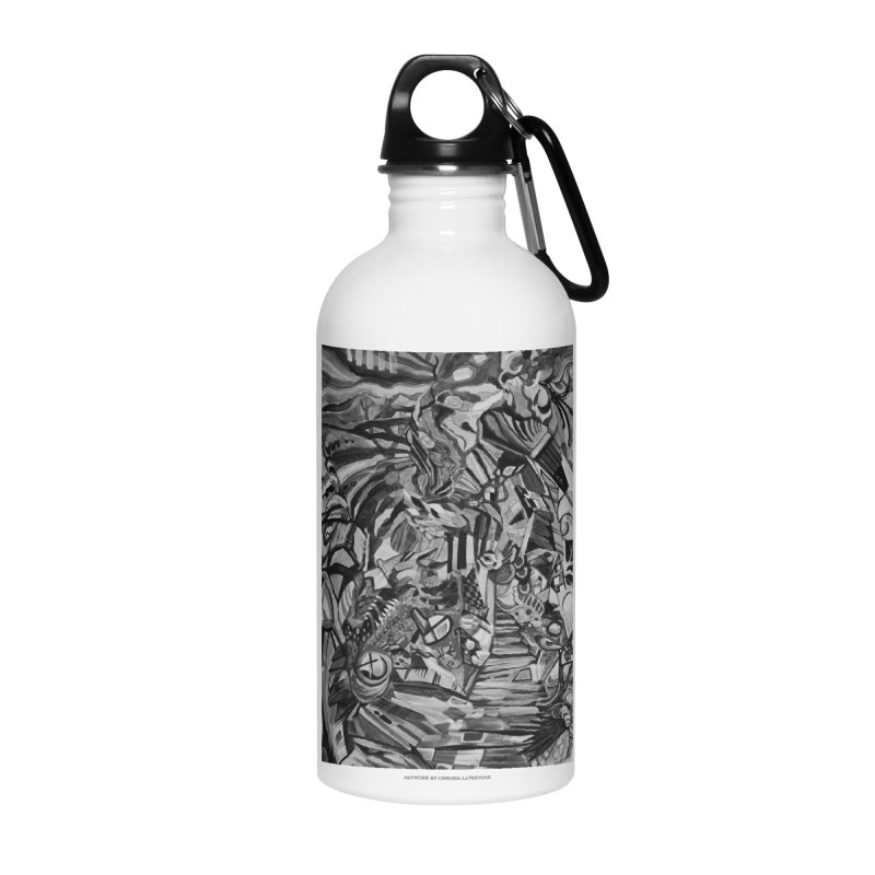 Claustrophobia (B&W) Accessories Water Bottle by Every Drop's An Idea's Artist Shop