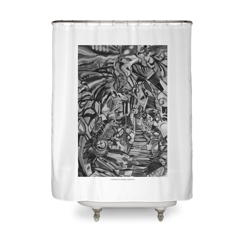 Claustrophobia (B&W) Home Shower Curtain by Every Drop's An Idea's Artist Shop
