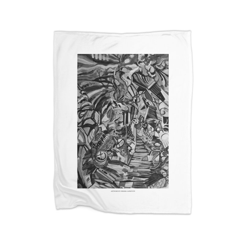 Claustrophobia (B&W) Home Blanket by Every Drop's An Idea's Artist Shop