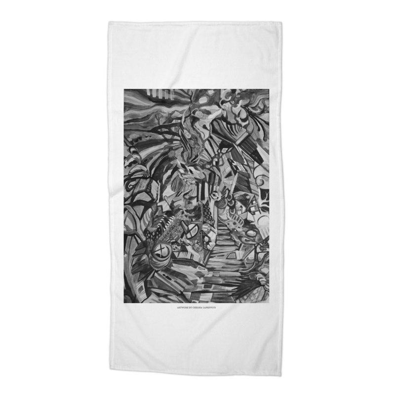 Claustrophobia (B&W) Accessories Beach Towel by Every Drop's An Idea's Artist Shop