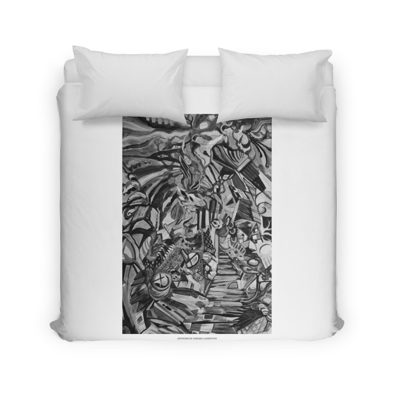 Claustrophobia (B&W) Home Duvet by Every Drop's An Idea's Artist Shop
