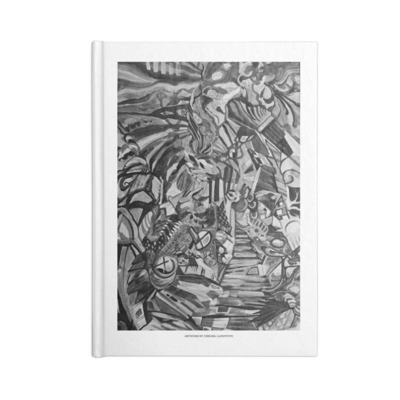 Claustrophobia (B&W) Accessories Notebook by Every Drop's An Idea's Artist Shop