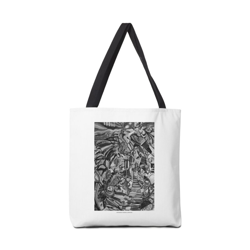 Claustrophobia (B&W) Accessories Bag by Every Drop's An Idea's Artist Shop
