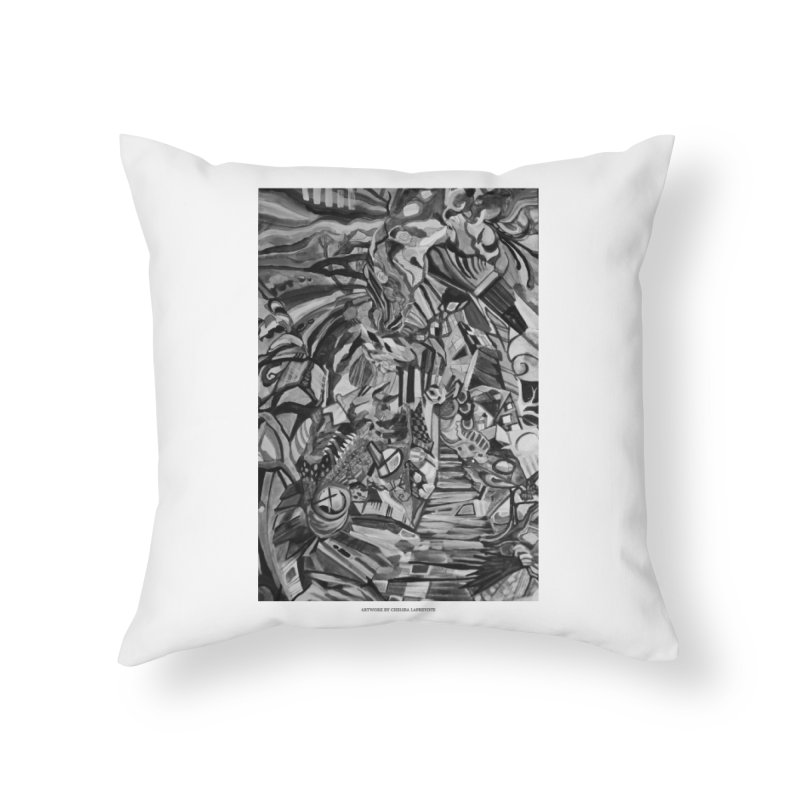 Claustrophobia (B&W) Home Throw Pillow by Every Drop's An Idea's Artist Shop