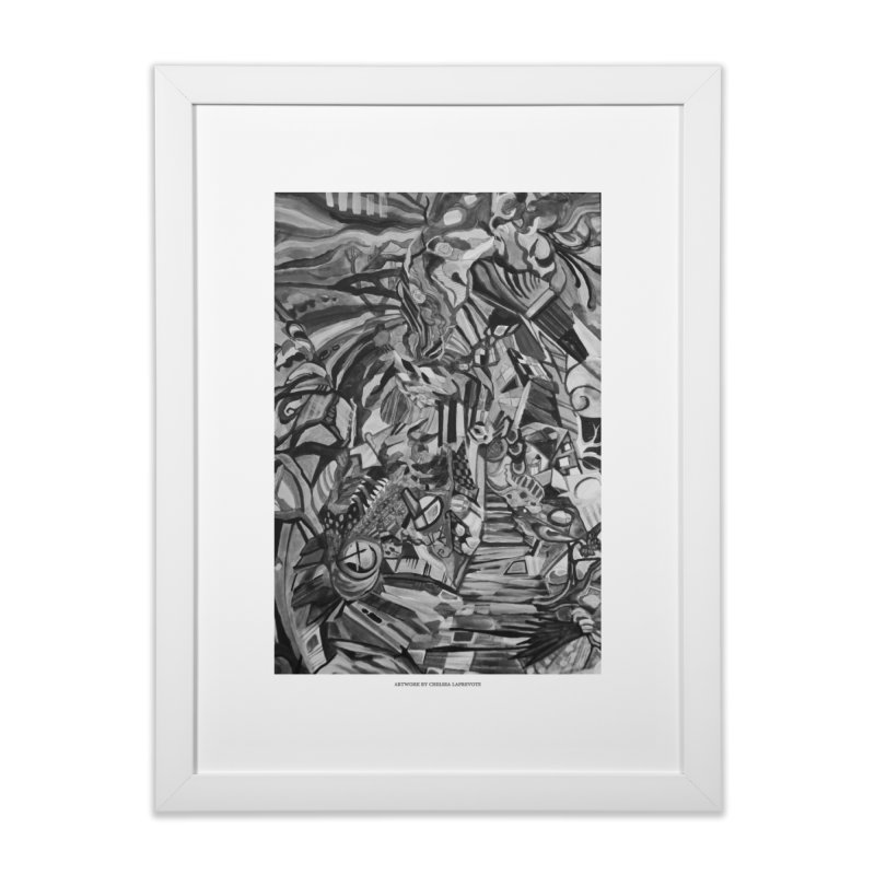 Claustrophobia (B&W) in Framed Fine Art Print White by Every Drop's An Idea's Artist Shop