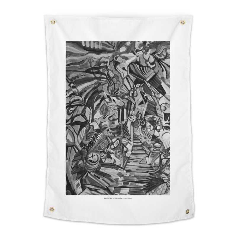 Claustrophobia (B&W) Home Tapestry by Every Drop's An Idea's Artist Shop