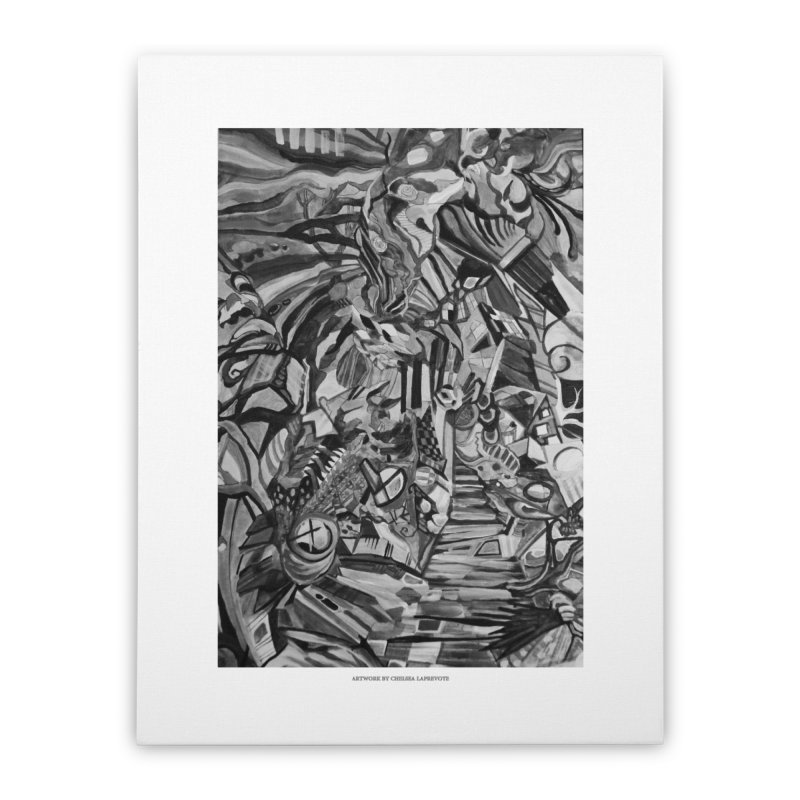 Claustrophobia (B&W) Home Stretched Canvas by Every Drop's An Idea's Artist Shop