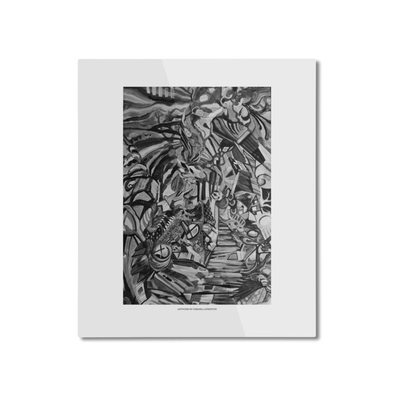 Claustrophobia (B&W) Home Mounted Aluminum Print by Every Drop's An Idea's Artist Shop