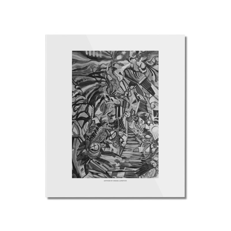 Claustrophobia (B&W) Home Mounted Acrylic Print by Every Drop's An Idea's Artist Shop