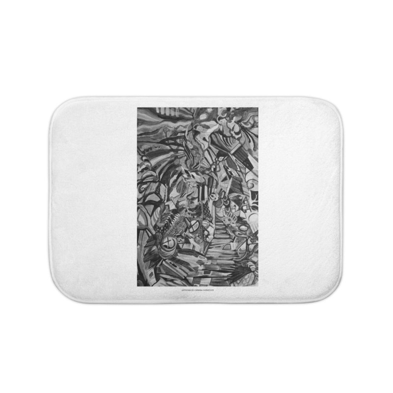 Claustrophobia (B&W) Home Bath Mat by Every Drop's An Idea's Artist Shop