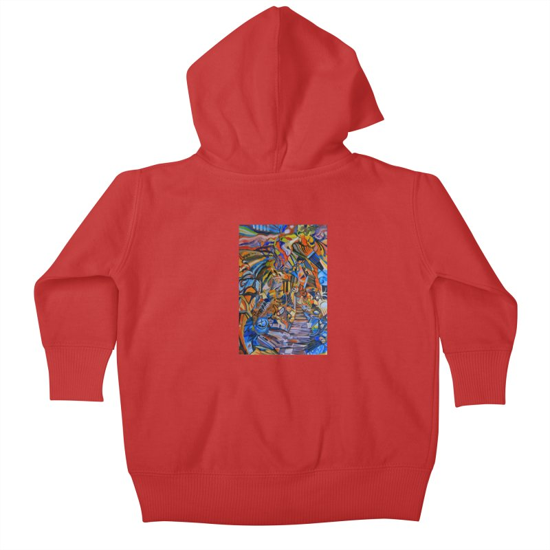 Claustrophobia (Color) Kids Baby Zip-Up Hoody by Every Drop's An Idea's Artist Shop