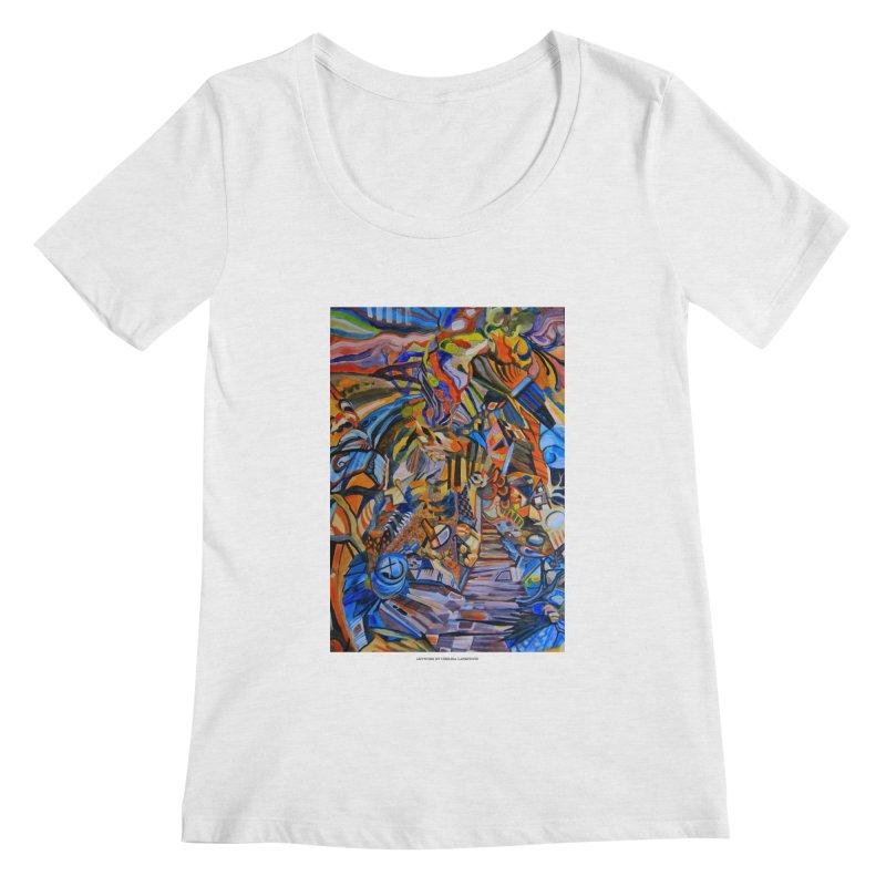 Claustrophobia (Color) Women's Scoopneck by Every Drop's An Idea's Artist Shop