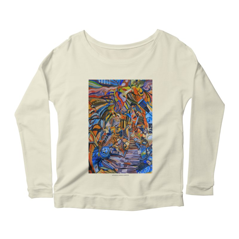 Claustrophobia (Color) Women's Longsleeve Scoopneck  by Every Drop's An Idea's Artist Shop