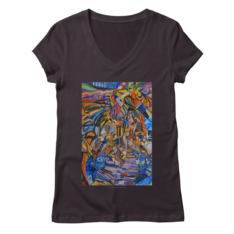 Claustrophobia (Color) Women's V-Neck by Every Drop's An Idea's Artist Shop