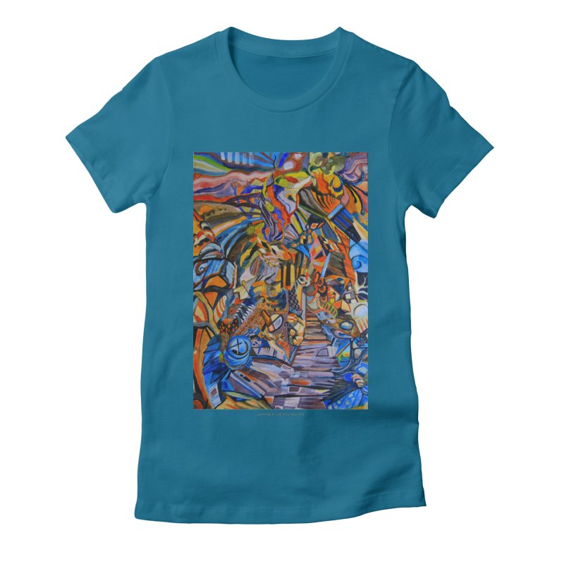 Claustrophobia (Color) Women's Fitted T-Shirt by Every Drop's An Idea's Artist Shop