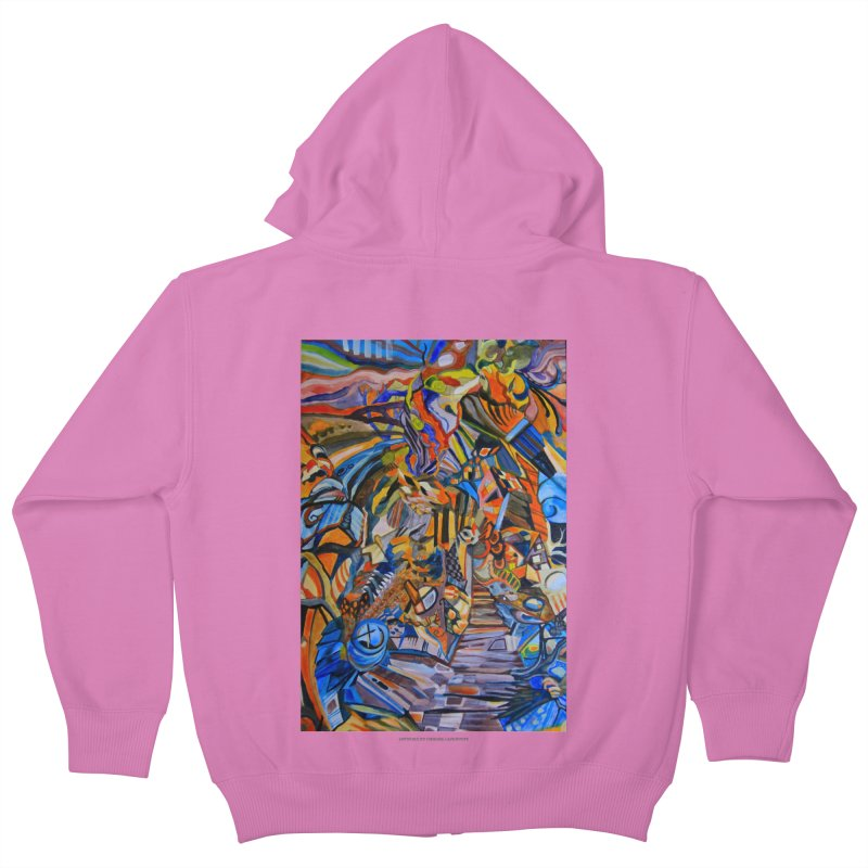 Claustrophobia (Color) Kids Zip-Up Hoody by Every Drop's An Idea's Artist Shop