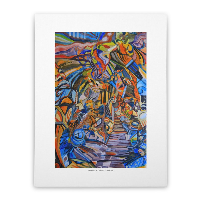 Claustrophobia (Color) Home Stretched Canvas by Every Drop's An Idea's Artist Shop