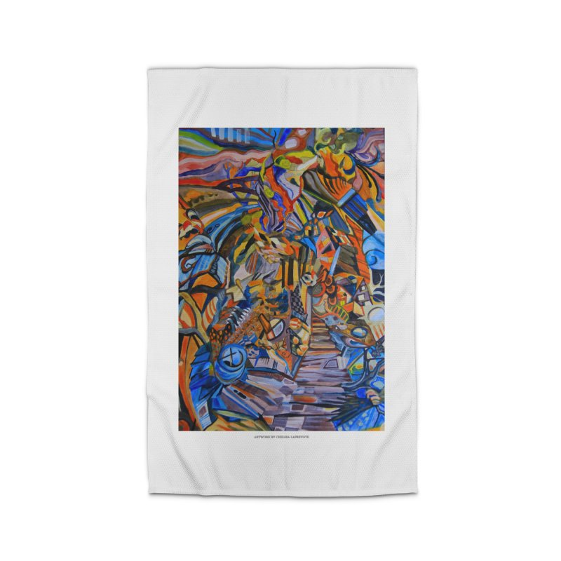 Claustrophobia (Color) Home Rug by Every Drop's An Idea's Artist Shop
