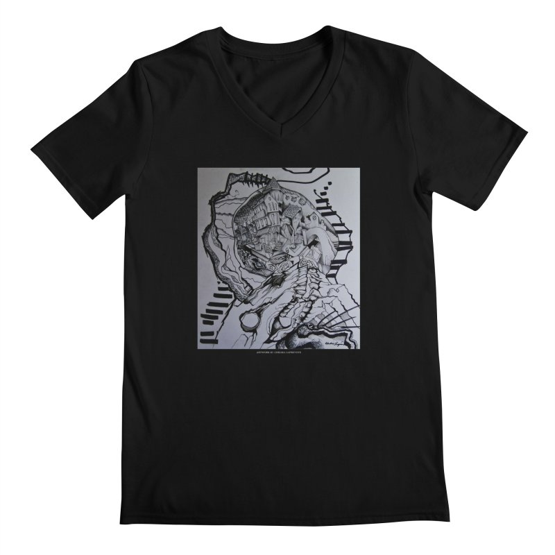 The Narrows Men's V-Neck by Every Drop's An Idea's Artist Shop