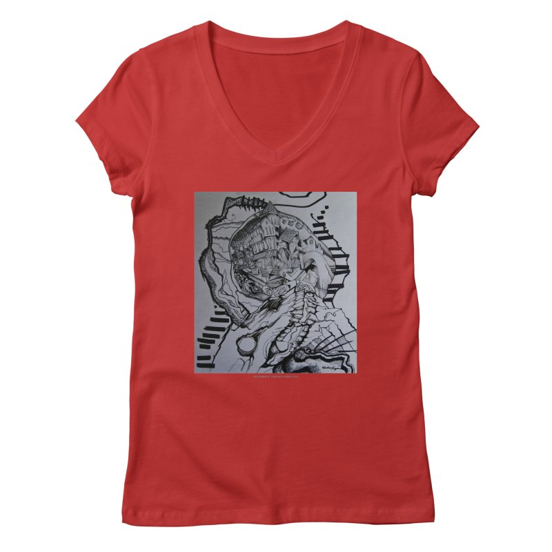 The Narrows Women's V-Neck by Every Drop's An Idea's Artist Shop