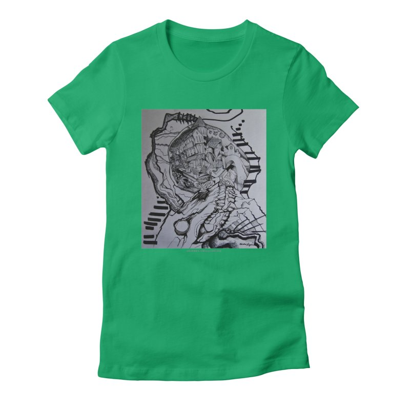The Narrows Women's Fitted T-Shirt by Every Drop's An Idea's Artist Shop