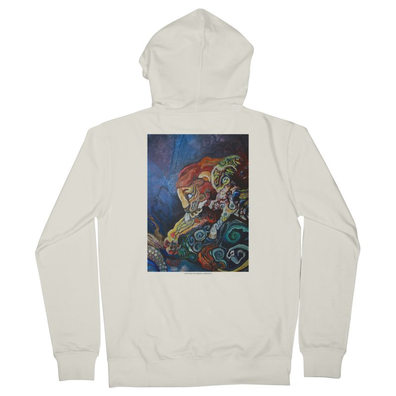 The Lion and The Lamb Men's Zip-Up Hoody by Every Drop's An Idea's Artist Shop