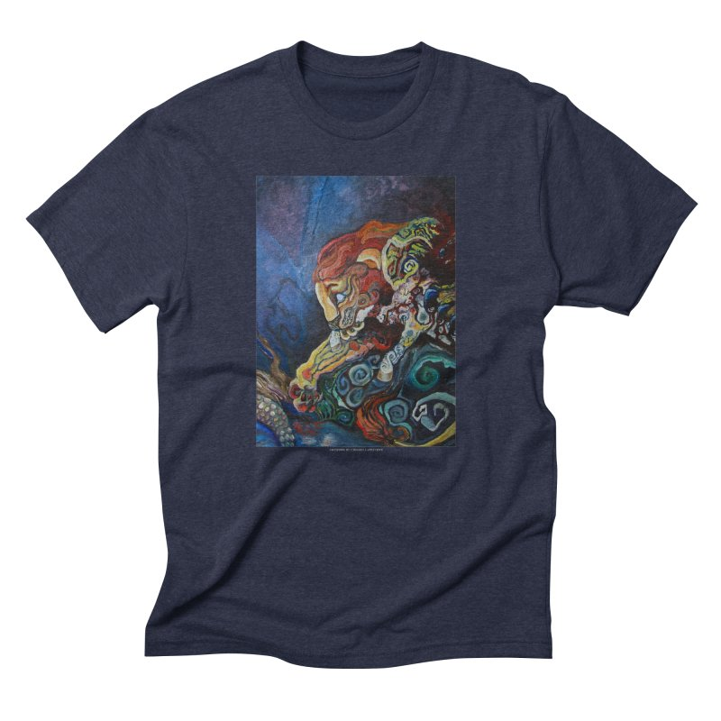The Lion and The Lamb Men's Triblend T-Shirt by Every Drop's An Idea's Artist Shop
