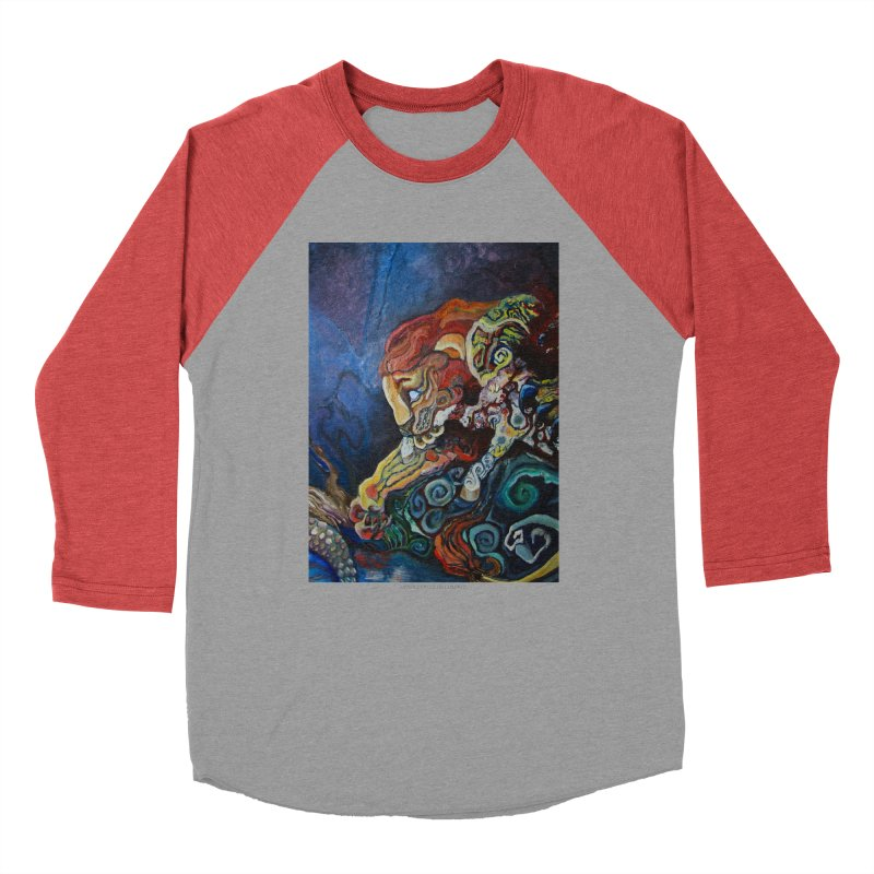 The Lion and The Lamb Women's Baseball Triblend T-Shirt by Every Drop's An Idea's Artist Shop