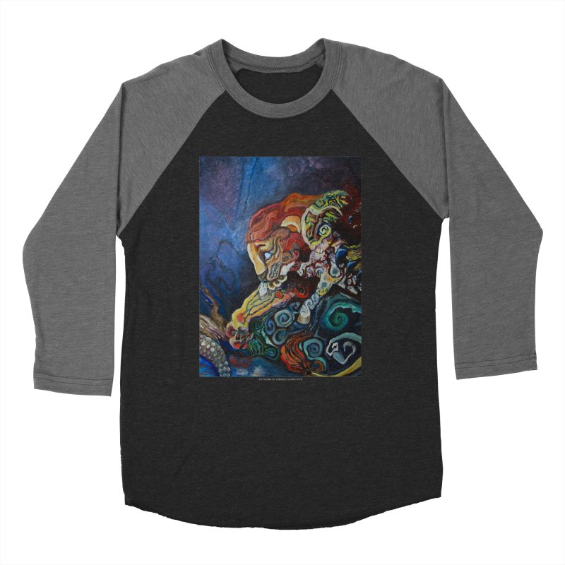 The Lion and The Lamb Men's Baseball Triblend T-Shirt by Every Drop's An Idea's Artist Shop
