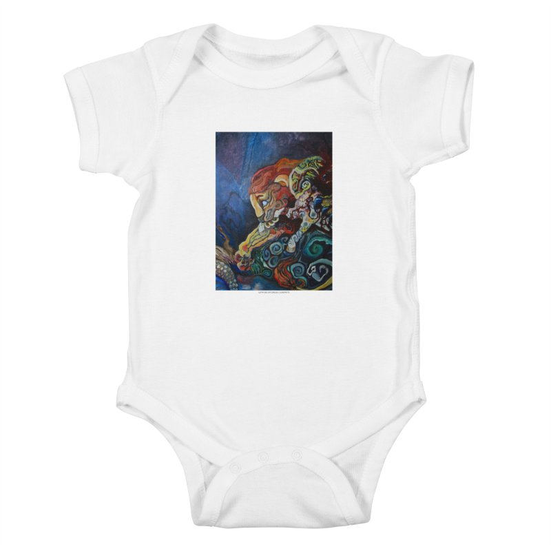 The Lion and The Lamb Kids Baby Bodysuit by Every Drop's An Idea's Artist Shop