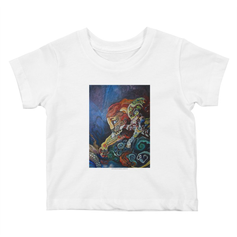 The Lion and The Lamb Kids Baby T-Shirt by Every Drop's An Idea's Artist Shop