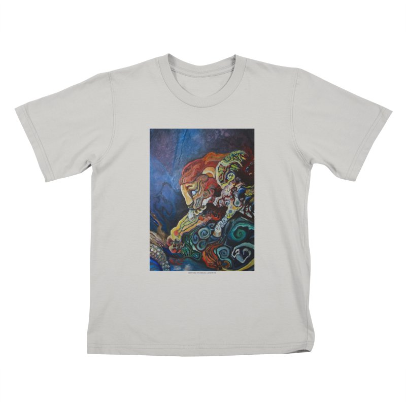 The Lion and The Lamb Kids T-Shirt by Every Drop's An Idea's Artist Shop