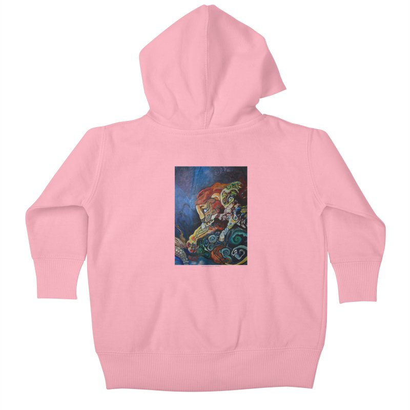 The Lion and The Lamb Kids Baby Zip-Up Hoody by Every Drop's An Idea's Artist Shop