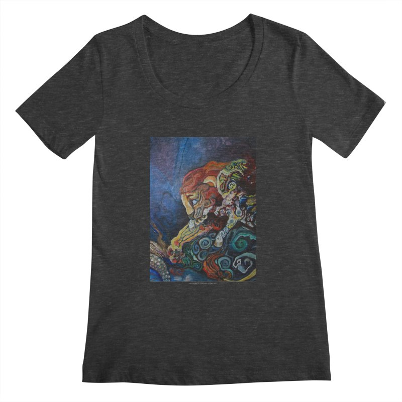 The Lion and The Lamb Women's Scoopneck by Every Drop's An Idea's Artist Shop