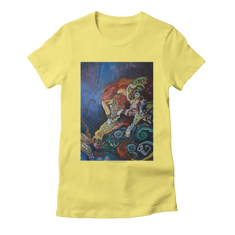 The Lion and The Lamb Women's Fitted T-Shirt by Every Drop's An Idea's Artist Shop