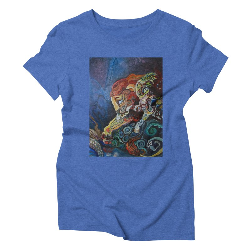 The Lion and The Lamb Women's Triblend T-shirt by Every Drop's An Idea's Artist Shop