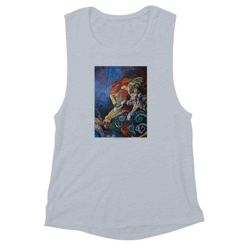 The Lion and The Lamb Women's Muscle Tank by Every Drop's An Idea's Artist Shop