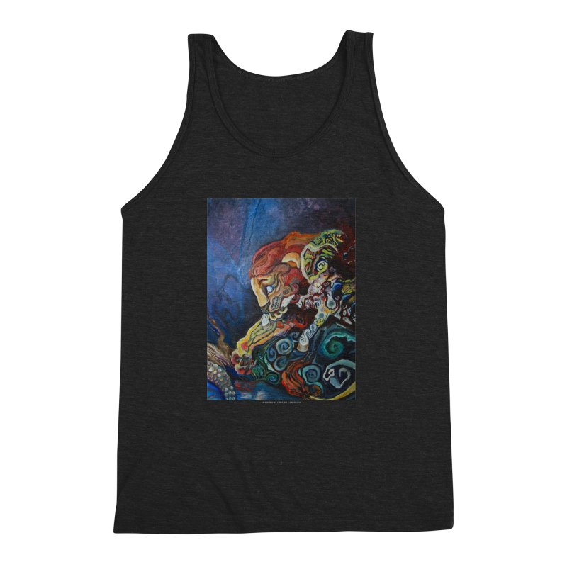 The Lion and The Lamb Men's Triblend Tank by Every Drop's An Idea's Artist Shop