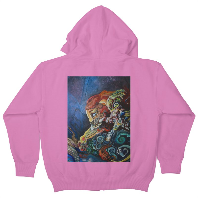The Lion and The Lamb Kids Zip-Up Hoody by Every Drop's An Idea's Artist Shop